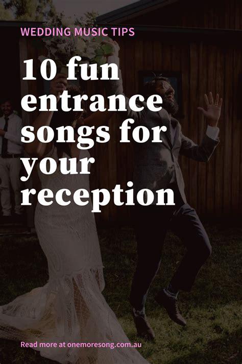 fun  energetic wedding party entrance song ideas