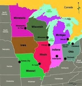 midwest us states map quiz middle west states and capitals quotes