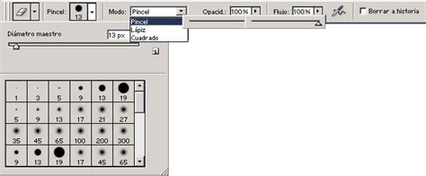 pincel cuadrado photoshop herramientas de borrar curso de photoshop gratis