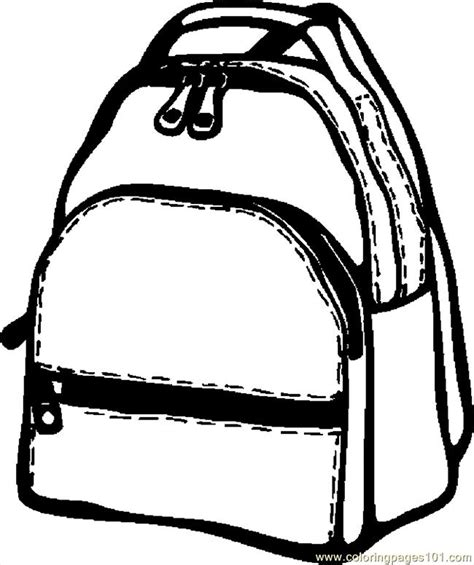 coloring page school bag backpack 07 coloring page free school coloring pages