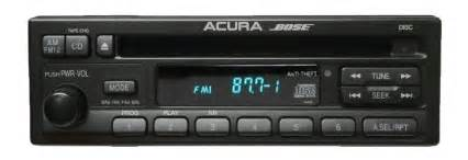Acura Cl Radio Code 97 98 99 Acura Cl C L Bose Am Fm Radio Stereo Cd Player