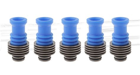 Stainless Steel Pom 510 Drip Tips Gold Plated 6 76 pom 510 drip tip w black plated stainless steel