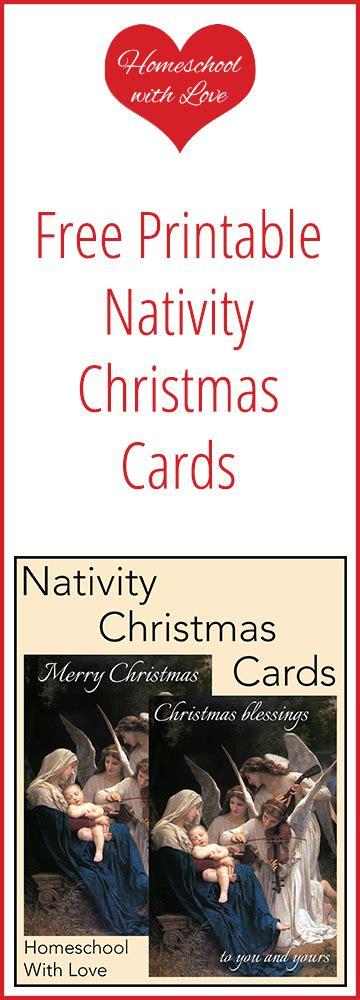 printable christmas cards nativity free printable nativity christmas cards