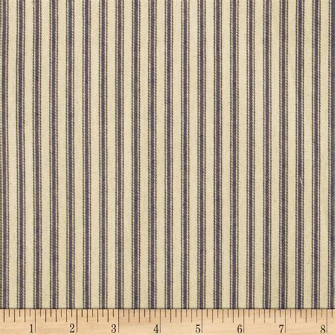 Discount Draperies And Curtains 44 Quot Ticking Stripe Navy Blue Discount Designer Fabric
