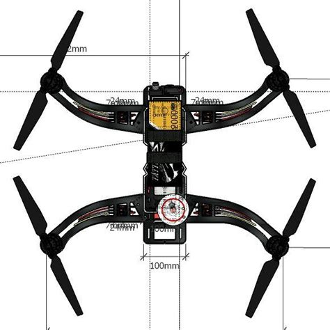 design drone frame fpv design naza dji multirotor drone leoweick