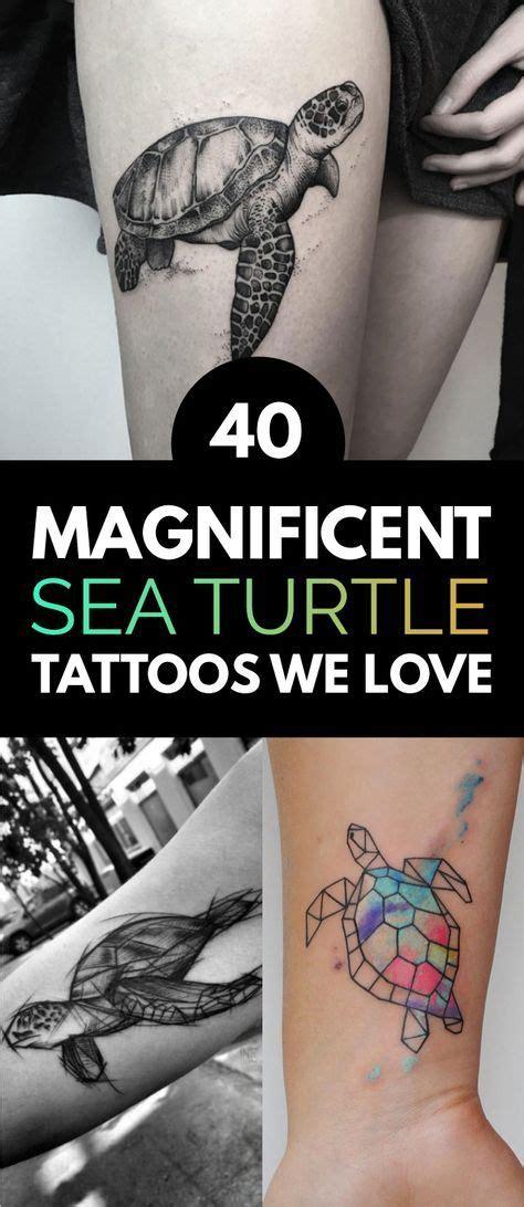 40 magnificent sea turtle tattoos we turtle