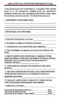 fall protection plan template fall protection plan template best template idea