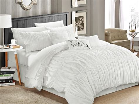 pleated comforter sets francesca 7 piece pleated comforter set