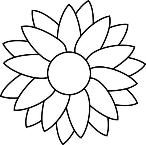 templates for flowers sun flower template clip art at clker com vector clip