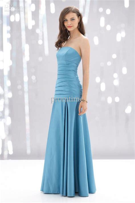 Blue Bridesmaid Dress by Light Aqua Blue Strapless Bridesmaid Dress With Floor