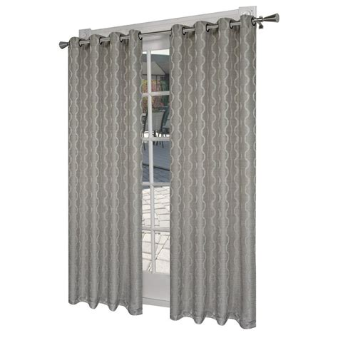 grey grommet curtains design decor 7 ft l light filtering solid dove grey