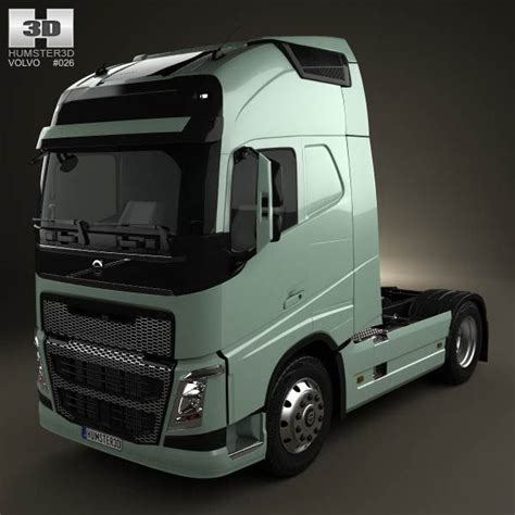 volvo gm heavy truck volvo fh tractor 2 axis truck 2012 3d model from humster3d