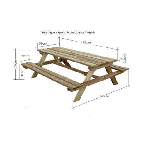 banc de picnic en bois table pique nique table pique nique bois pique nique