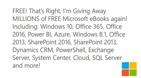 Microsoft Ebook Giveaway - microsoft free ebook giveaway download millions of books for free