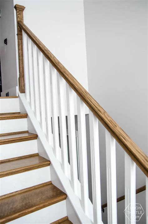 installing a stair banister how to install a wooden handrail on split level stairs