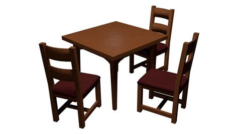 dining table and chairs wip by raggz on deviantart