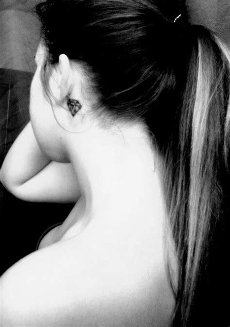 Diamond Tattoo Behind Ear Tumblr | diamond behind the ear tattoo cute idea for matching best