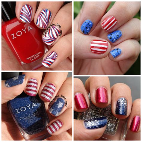 red acrylic 4th of july nils patriotic 4th of july nail ideas crafty morning
