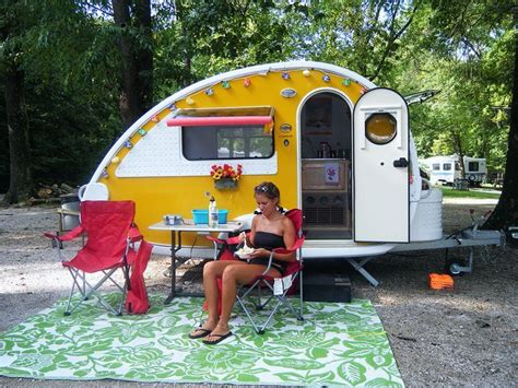 teardrop trailers with bathroom yellow teardrop teardrop pinterest