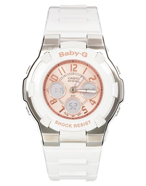 Casio Baby G Rubber Blue White lyst g shock rubber in white