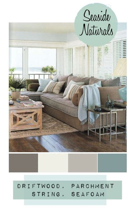 seaside naturals coastal style seaside color schemes and living room colors