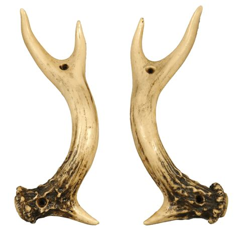 rustic hardware set of 2 antler door handles black forest - Antler Door Handles