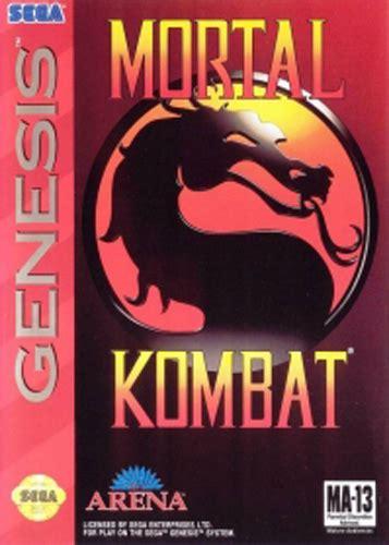mortal kombat sega genesis characters comradesnarky s adventures in collecting mortal