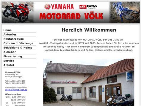 Motorrad Yamaha H Ndler Nrw by Motorrad V 246 Lk In Rammingen Motorradh 228 Ndler