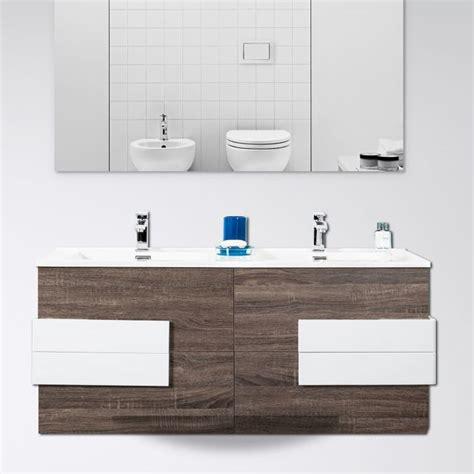 mobile bagno 120 cm mobile bagno energy 120 cm marrone con inserti bianchi