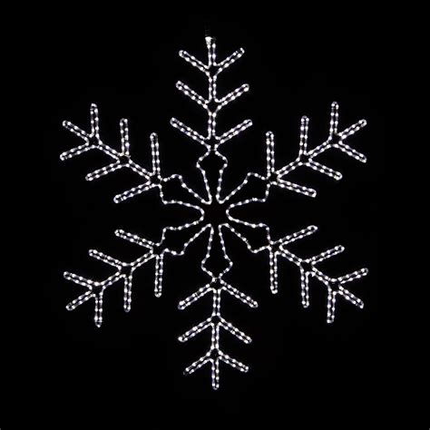 outdoor snowflake lights creating the right atmosphere with amazing snowflake