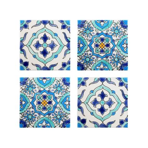 mediterranean tile mediterranean tile coasters set of 4 tile coasters