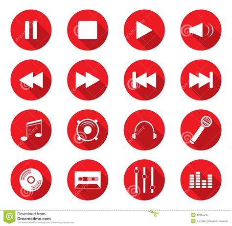 design icon button flat design icons stock vector image 42359247