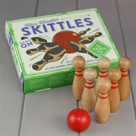 Minis Hit The High St by Mini Wooden Skittles By Nest Notonthehighstreet