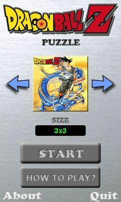 dragon ball z: puzzle java game for mobile. dragon ball