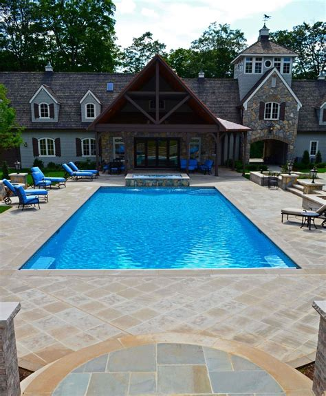 Patio Designs With Pool Patio Wall Design For Pools Landscaping Nj