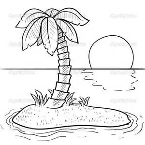 beach palm trees coloring page coloring pages - Palm Tree Beach Coloring Page