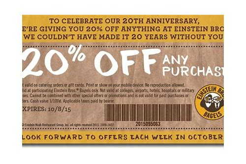 einstein coupon 2018