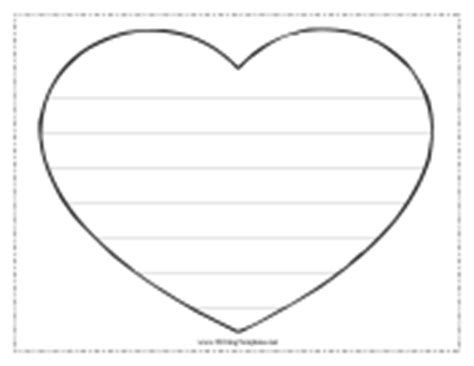 heart writing template with lines search results
