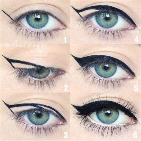 eyeliner tutorial with pictures cat eye makeup pinterest images