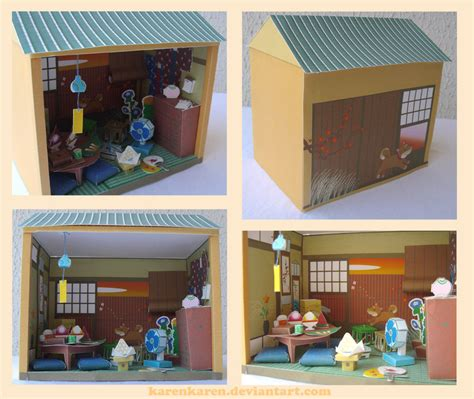 Japanese Papercraft - papercraft japanese house by karenkaren on deviantart