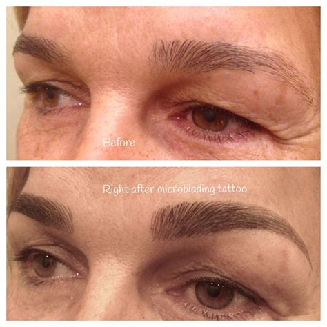 semi permanent tattoo 6 months before and after microblading which is a manual