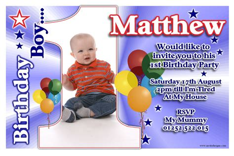 1st Birthday Invitation Cards For Baby Boy In India