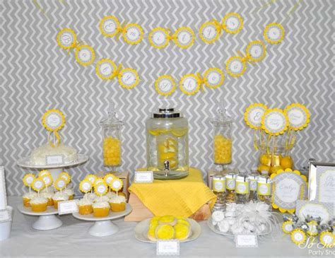 yellow baby shower yellow and gray pottery barn kids gray and yellow baby shower sorepointrecords
