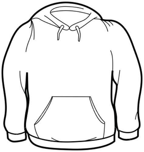 blank hoodie template ist size sweatshirt free images at clker