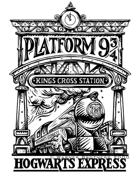 harry potter coloring book chapters hogwarts express illustration hogwarts