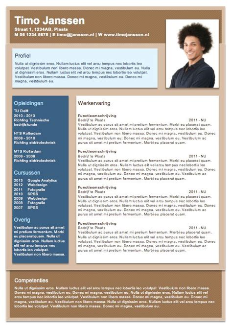 Curriculum Vitae Sjabloon Word 2010 words on