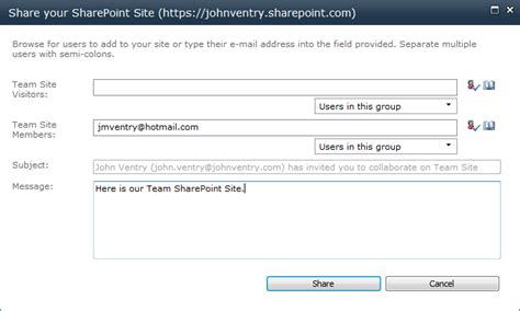 email j t it s cloudy in here invitation to sharing office 365
