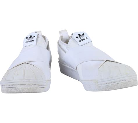 adidas white superstar slip on casual flats