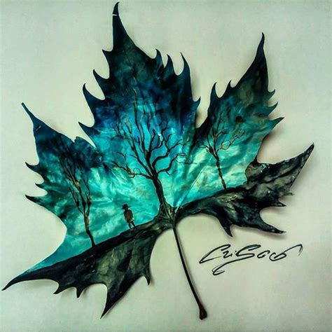beautiful painting on a leaf by the talented criscoart remember exploregram