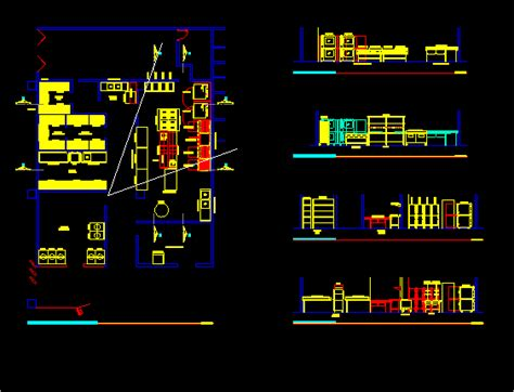Restaurant Floor Plan Industrial Kitchen Layout And Furnishings In Autocad